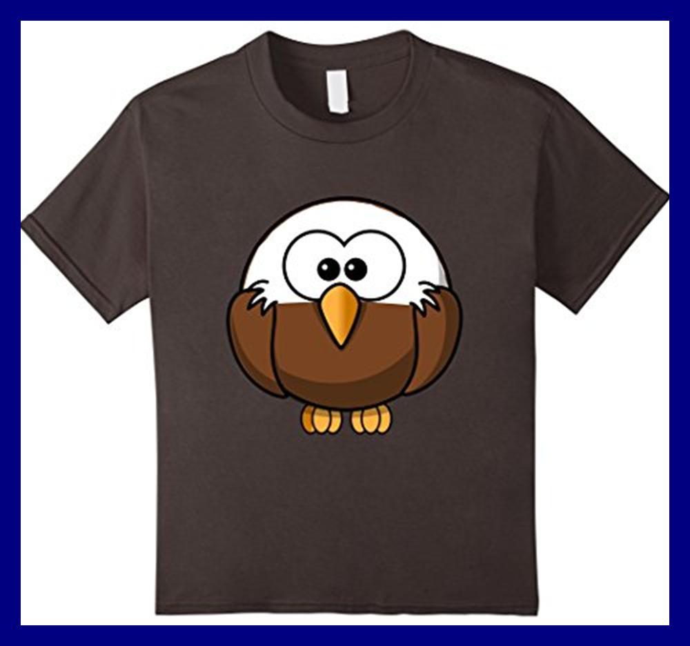 a5dd2b07 Kids American Bald Eagle Cartoon Shirt Birdwatch Asphalt 12 Unisex  ChildFunny free shipping Unisex Casual Tshirt top