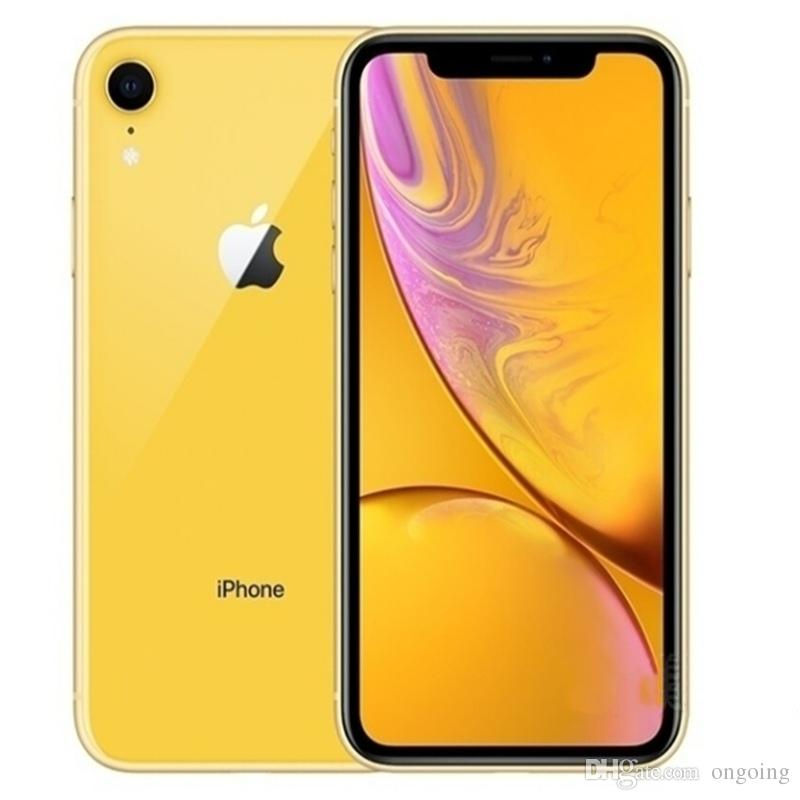 Original Unlocked Refurbished Apple iPhone XR A12 IOS12 4G LTE Mobile phone 6.1inch 12.0MP 3G RAM 64G 128G ROM Face ID Cellphone