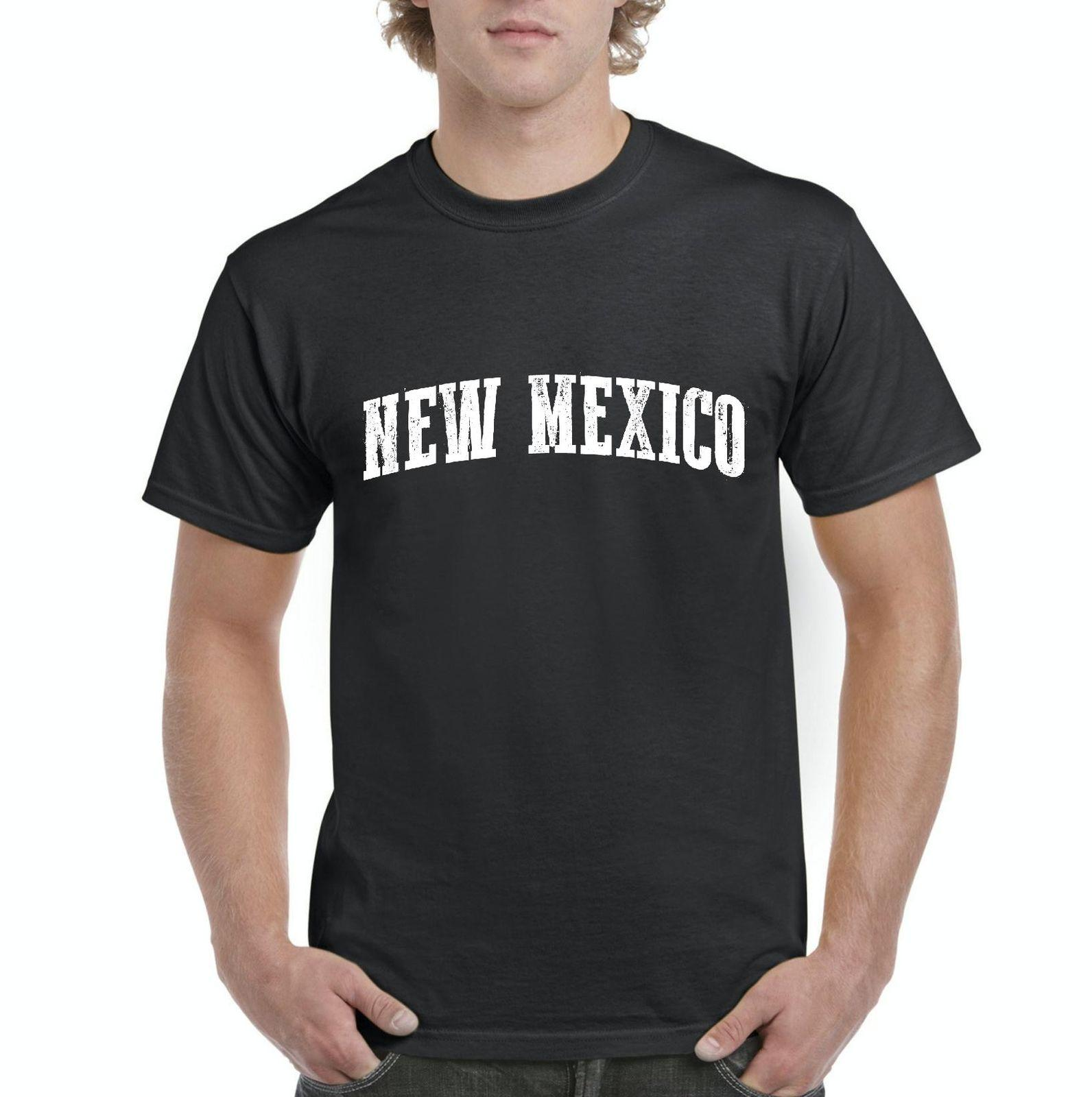NM New Mexico Flag Albuquerque Map Lobos Home University of New Mexico  T-Shirt Cotton Men T Shirts Classical Top Tee Basic Models