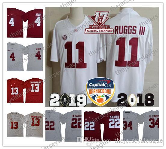 d97adf470ed 2019 Alabama Crimson Tide #2 Hurts 4 Jerry Jeudy 13 Tua Tagovailoa 22 Najee  Harris Stitched White Red Orange Bowl NCAA Football Jersey From  Thejerseysleague ...