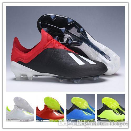 2f7d14b54e39e Compre 2018 Zapatos De Fútbol Para Hombre X 18.1 FG Botines De Fútbol Para  Tobillo Bajos Originales Speedmesh X18.1 Messi Speed Mesh Botas De Fútbol  Al ...