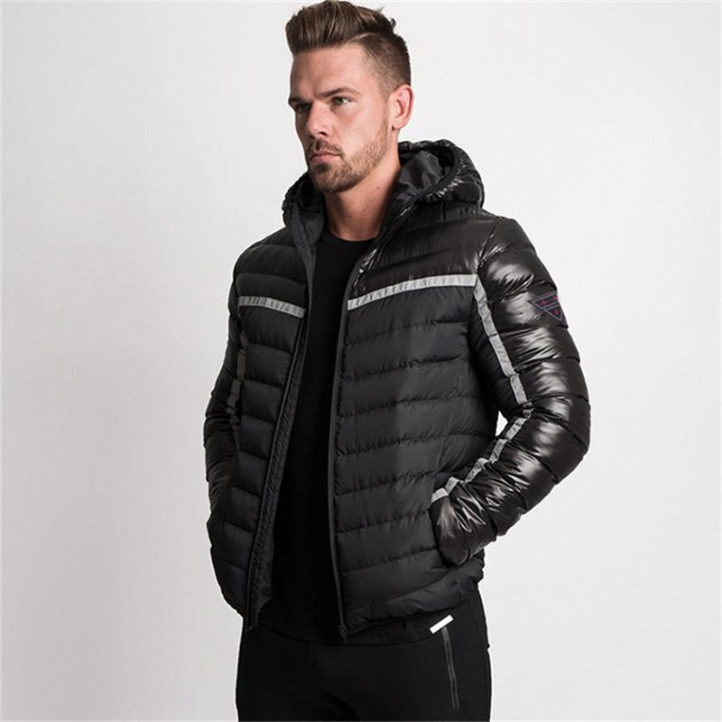 e994c2dc5 2018 Winter Mens Bodybuilding Running Gyms Casual Jackets Coat Hoodie Basic  Men Sports Clothing Fitness Men s Male Clothes Parka