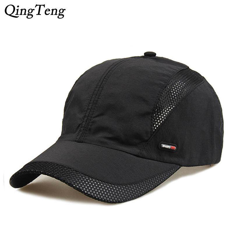 f3b96d21da6e Summer Breathable Mesh Baseball Cap Brand Lightweight Quick Drying Net  Visor Sun Hat Black Dad Cap Men Snapback Hats Army Hats Custom Caps From  Melontwo