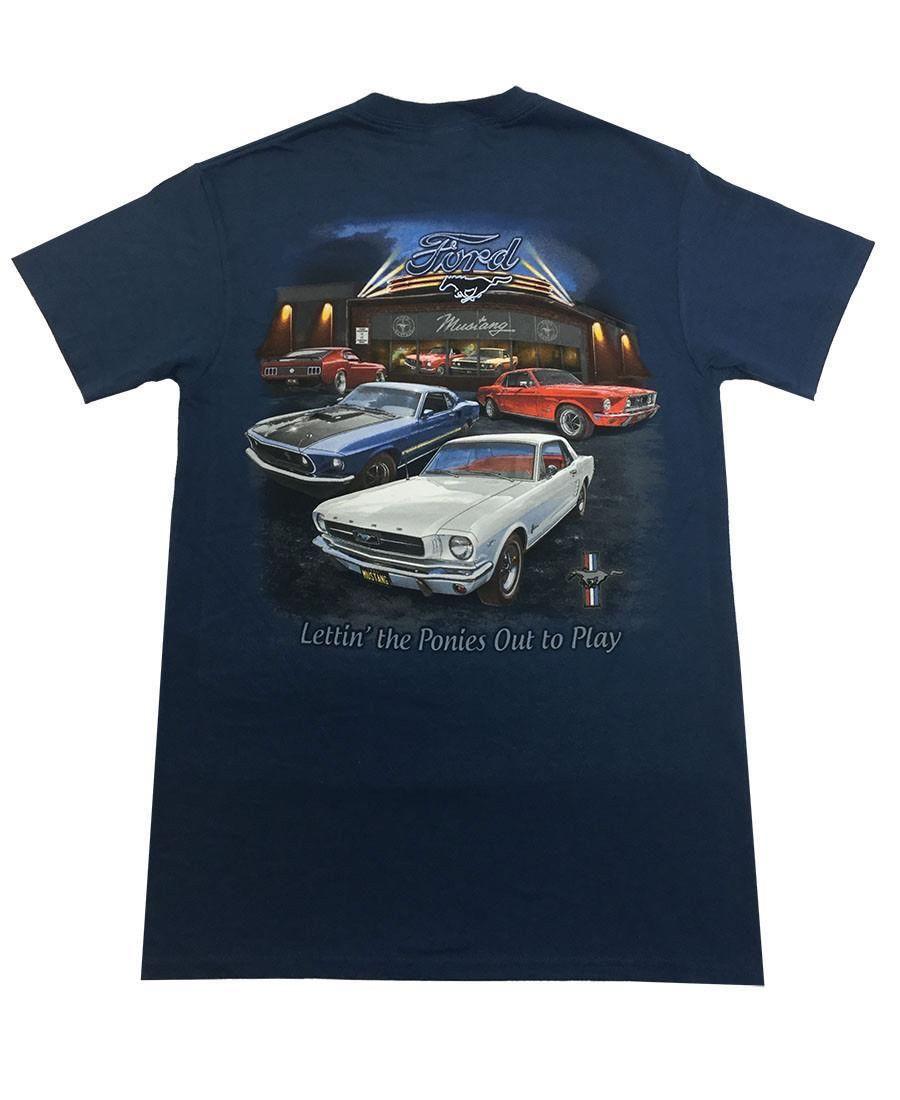 54e672012c21c Joe Blow Men S Ford Mustang Showroom T Shirt Funny Tee Shirt Buy T ...