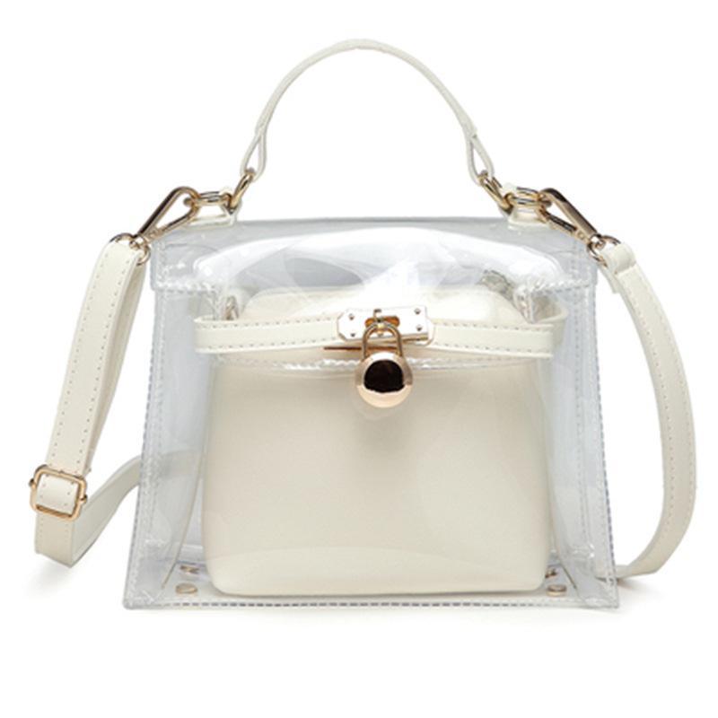 4e2173cadf0 New Women Bag Pvc Transparent Bag Shoulder Women Luxury Handbags ...