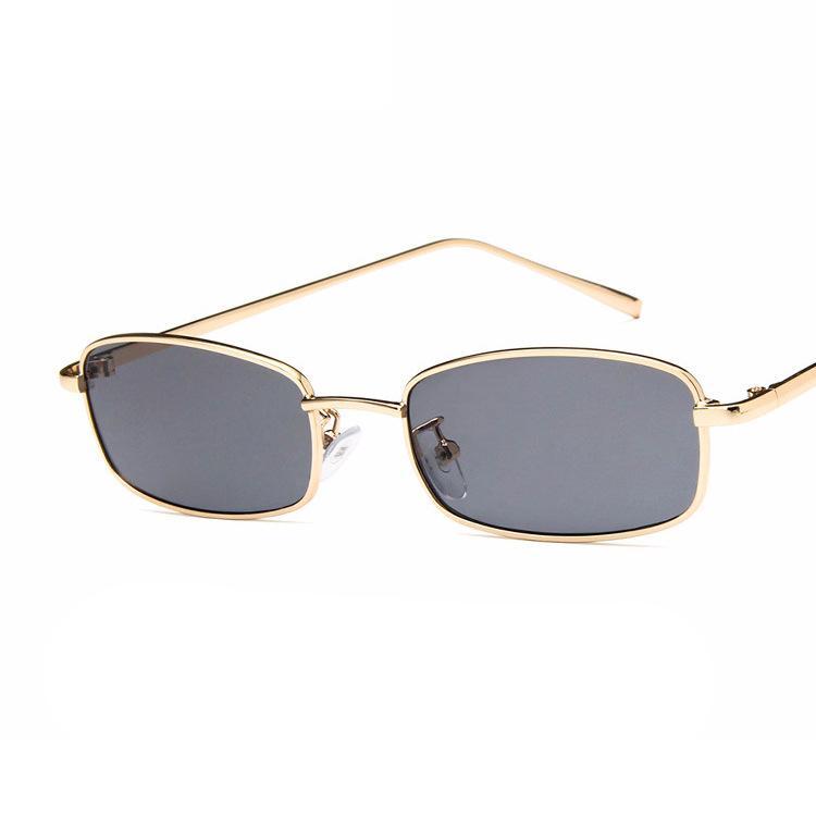 135981c490980 Compre Pequeno Quadrado Óculos De Sol Das Mulheres Dos Homens Retro  Vermelho Óculos De Sol Transparente Lente Clara Óculos De Armação De Metal  Shades ...