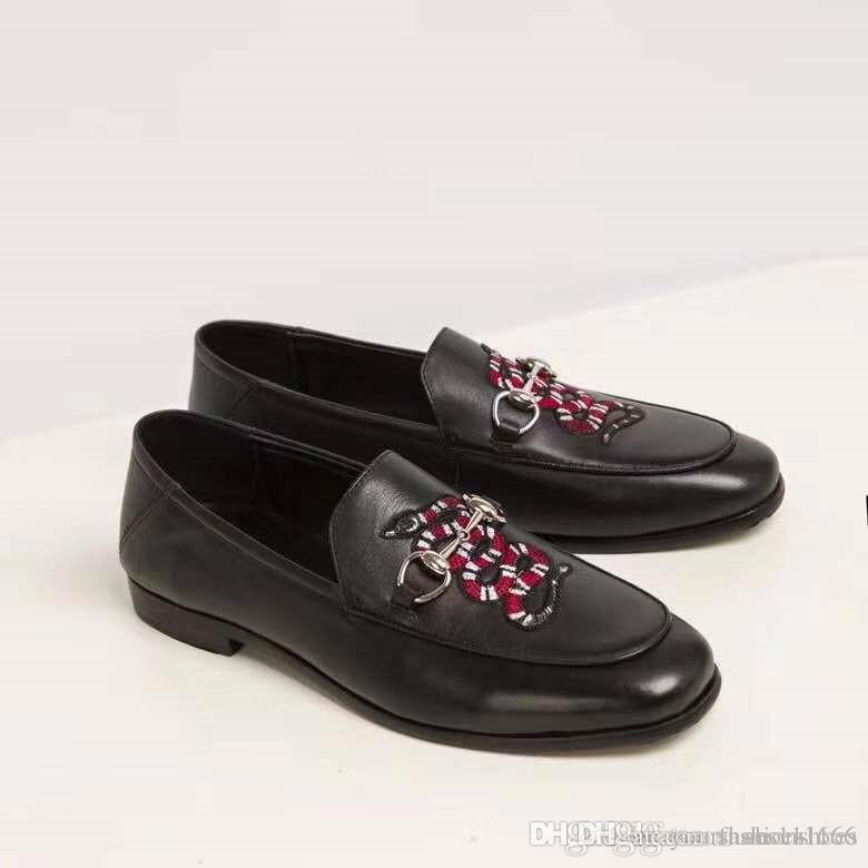 05e858b17cdf6 Acheter Chaussures Habillées Pour Hommes Avec Motif Animalier Chaussures De  Sport En Cuir De Haute Qualité En Cuir De Haute Qualité Marque De Luxe De  La ...