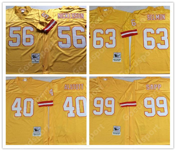 factory price bf74c 5ea29 RETRO Tampa Bay Jerseys Buccaneer 99 Warren Sapp 40 Mike Alstott 56 Hardy  Nickerson 63 Lee Roy Selmon FOOTBALL shirts classic Sport vintage