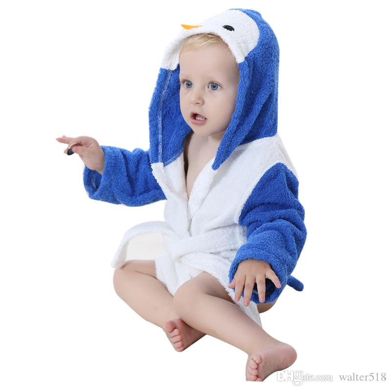 f4c9c76877 Animal Baby Hooded Bathrobe Bath Towel Baby Fleece Receiving Blanket ...