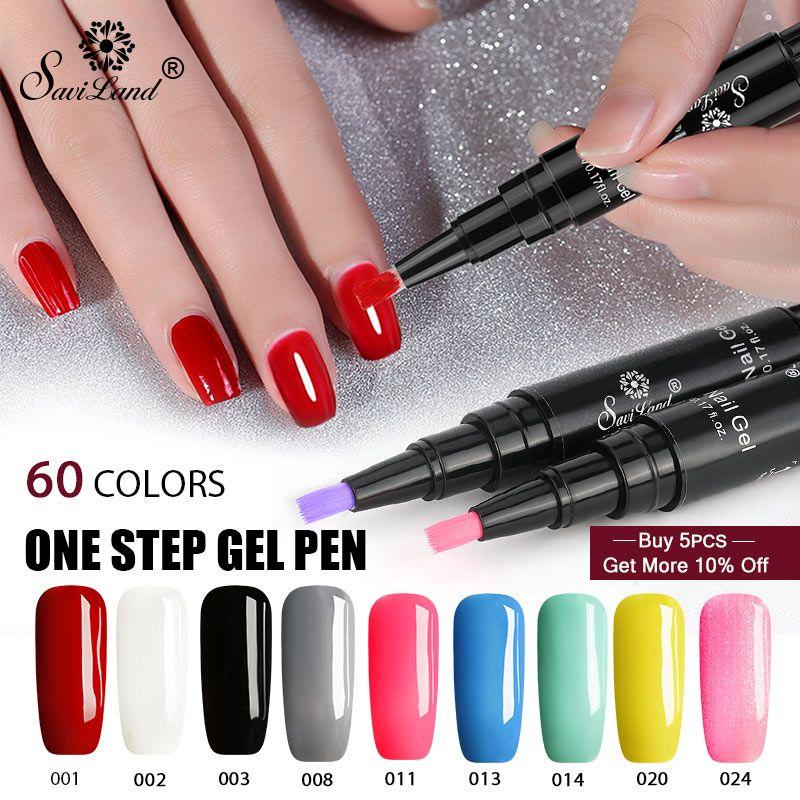 Newest 3 In 1 Gel Nail Varnish Pen Glitter One Step Nail Gel Polish ...