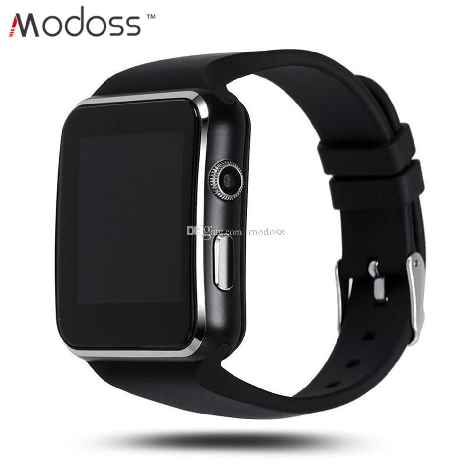 e48dd0c7722f Comprar Relojes Online 2019 X6 Moda Bluetooth Reloj De Pulsera Inteligente  Para Teléfonos Android Con Soporte Ranura Para Tarjeta SIM Cámara Música  Conexión ...