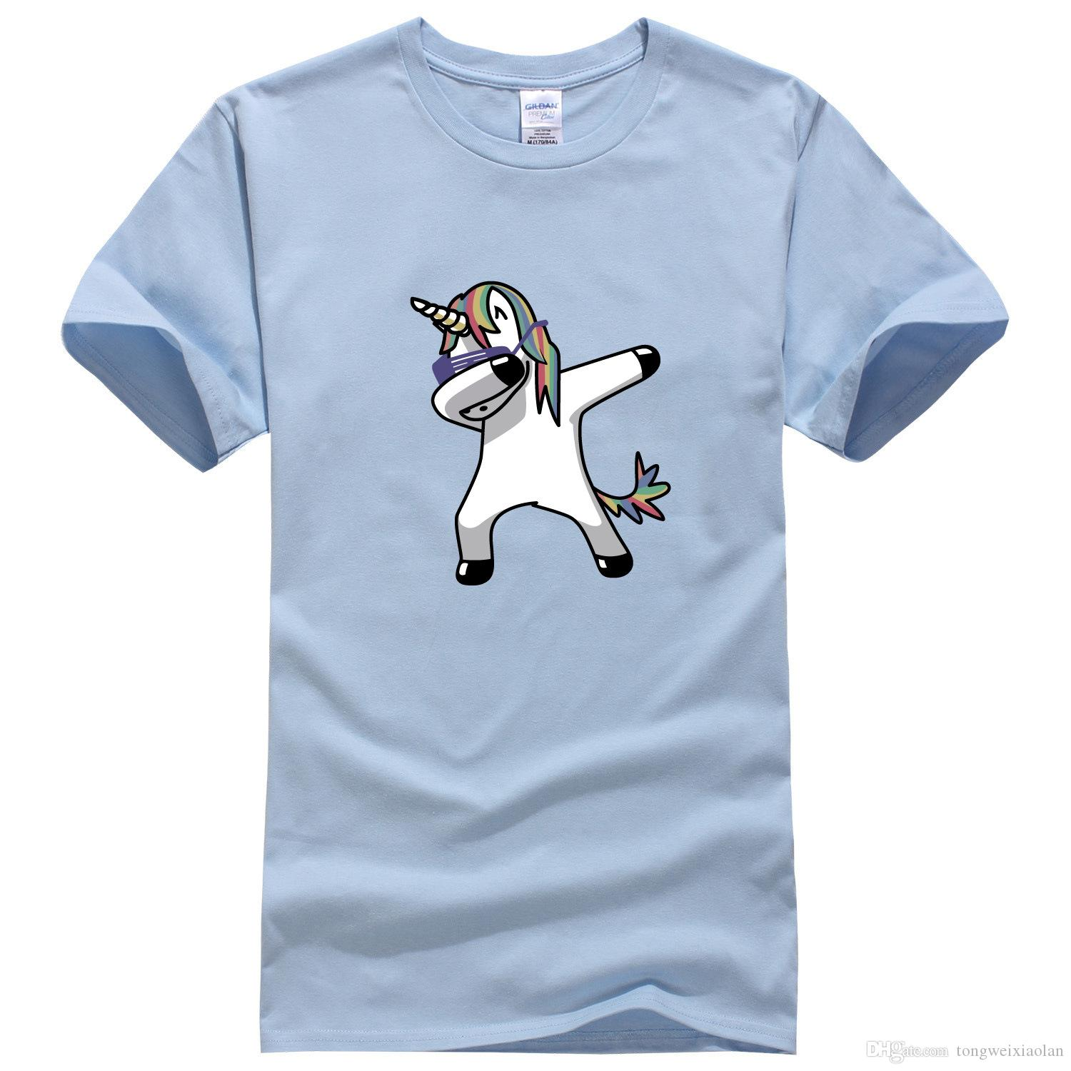 035d5b466 2019 Couples Loose Spoof Unicorn Printing Pure Cotton Half Sleeved Round  Collar T Shirt Loose T Shirt HCY007 Teet Shirts Tee Shirts For Sale From ...