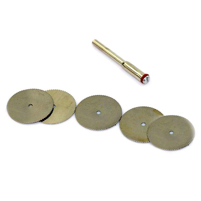 22mm Disc Wheel Cutting Blade Wood Saw for Drill Multi Rotary Tool Mini Drill Rotary Tool Accessories 6Pcs/Set X 5set