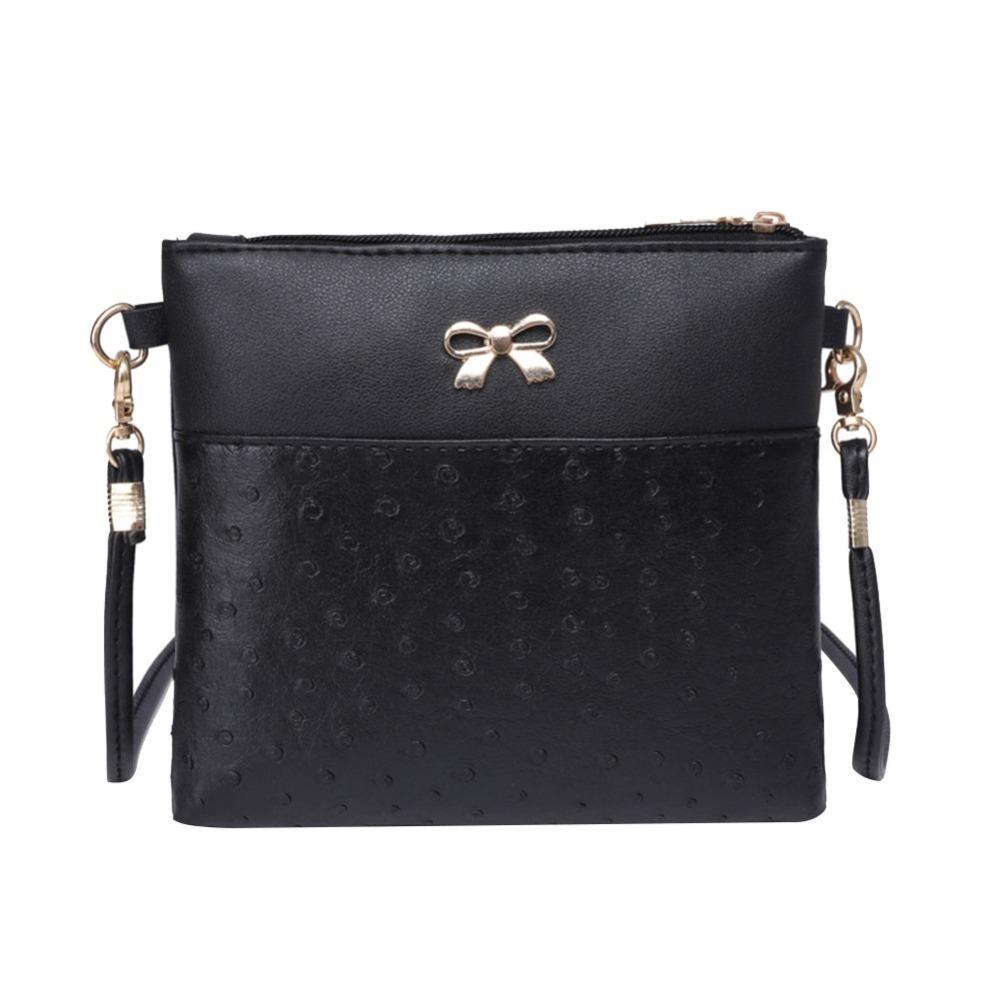 Bowknot Cuero Mujer PU Bag Compre Vintage Diseñador Sling Messenger 8qp4gtxA