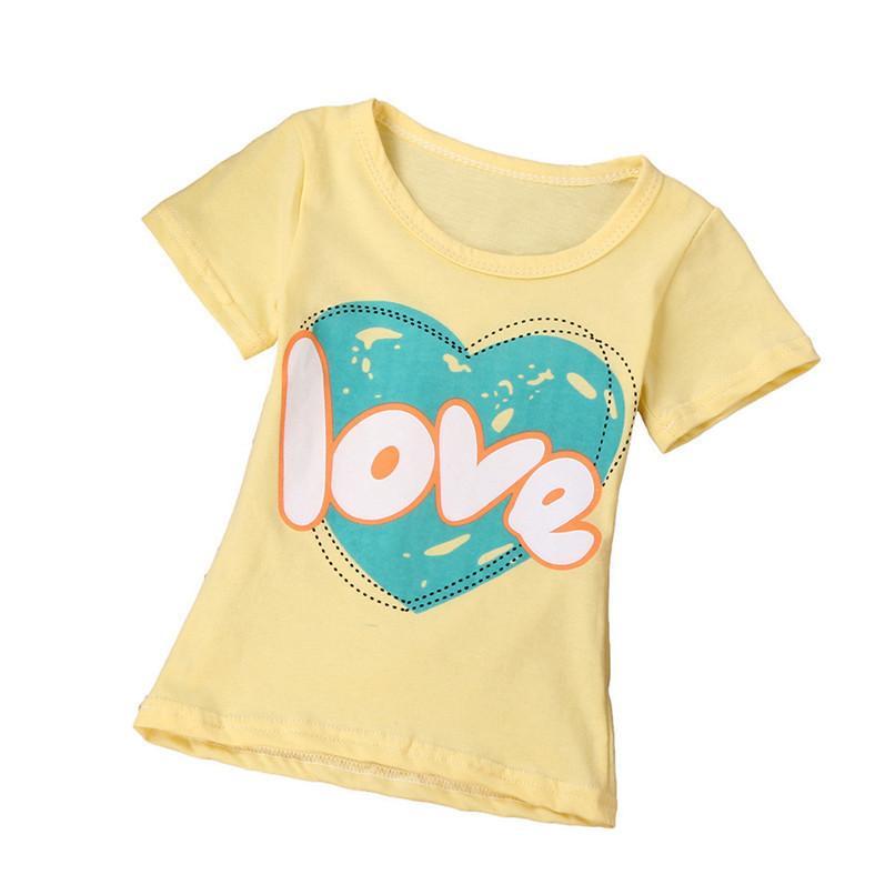 1f3224644 Summer Baby Girl Tops And Tees Children Kids Boy Girl Short Sleeve ...