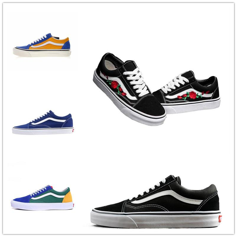Fashion shoes Unisex House off Men Women sneakers black white Green for design skate Sports Classic Old skool Causal shoe36-44 D668866887799