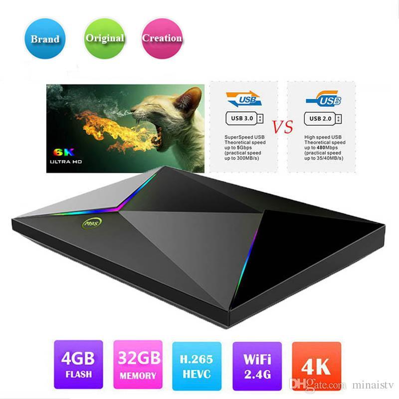 M9S Z8 Android 9 0 TV Box Allwinner H6 Quad Core 4GB Ram 32GB Rom WiFi 2 4G  6K Smart tv box Better RK3328 S905X2 S912
