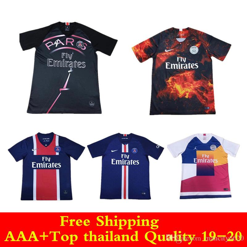 2019 AAA+Top Thai Quality 18 19 20 EA Sports Jersey Psg MBAPPE Soccer  Jerseys 2019 2020 Home Away Paris Jordam CAVANI Football Shirt From  Mancity6620 07cde230f
