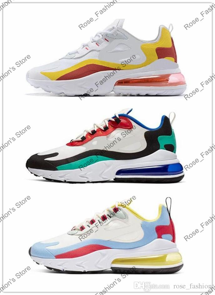 React 270 Maxes Men Running Shoes Fashion Casual Jogging Outdoor Sports Mens Athletics Trainers Designer Sneakers 270 react Top Quality 2019