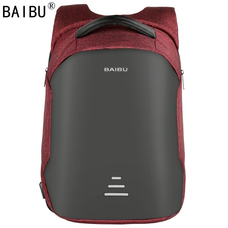 Baibu Men Backpack Anti-theft Waterproof Usb Charging Laptop Backpack Student Women School Bags For Teenagers Travel Bag Y19061004