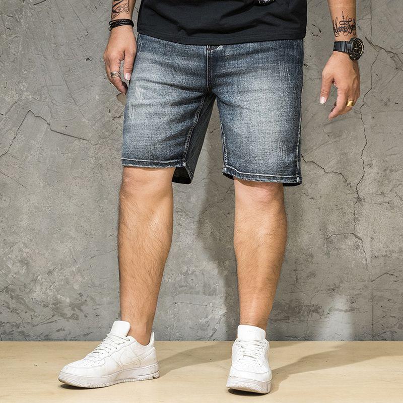 Details zu Bermuda Herren Weiß Kurze Hosen Casual Baumwolle Zerrissen Streifen Schwarz