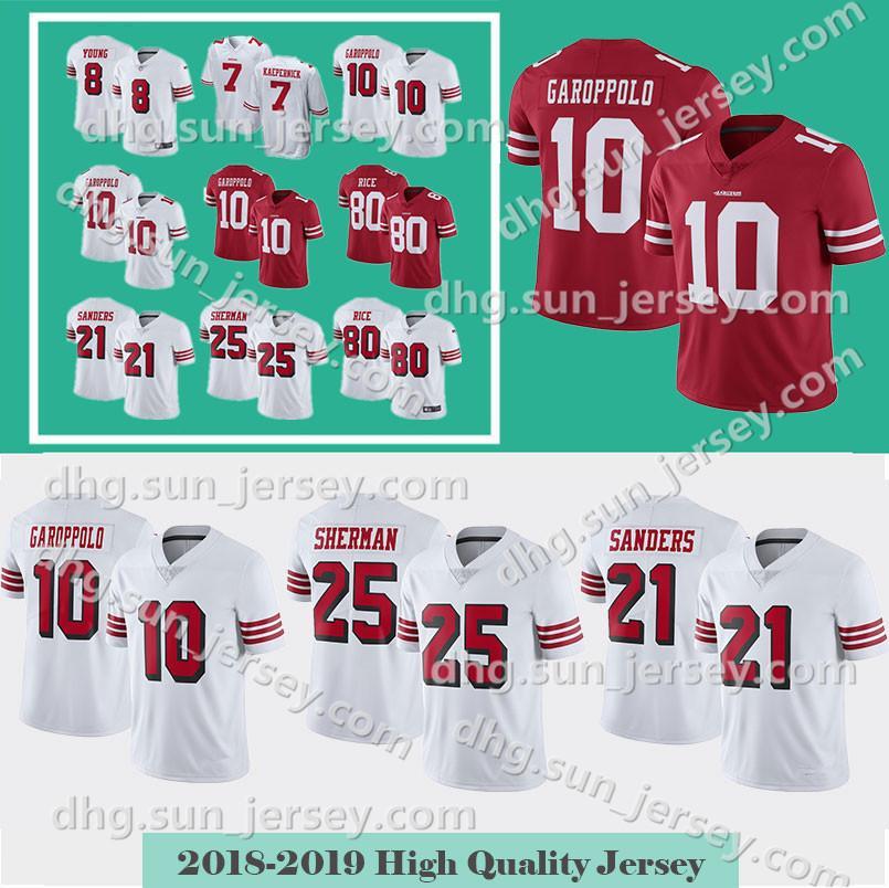 e4c778909 10 Jimmy Garoppolo Men S San Francisco Jersey 49er 7 Colin Kaepernick 25  Richard Sherman 80 Jerry Rice 56 Reuben Foster 16 Joe Montan UK 2019 From  ...