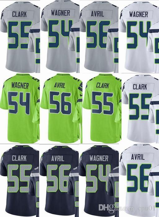 ddf769d3 Seattle Seahawks custom men/youth/women #54 Bobby Wagner 55 Frank Clark 56  Cliff Avril Vapor Untouchable Limited/rush/elite jerseys