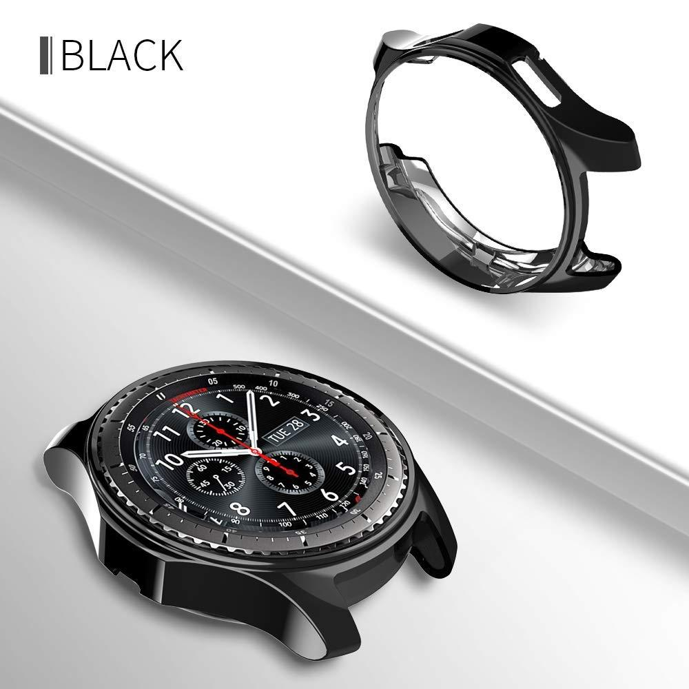 New cover for Samsung Gear S3 frontier/Galaxy Watch 46mm bumper soft smart  watch accessories plated protective shell case 22mm