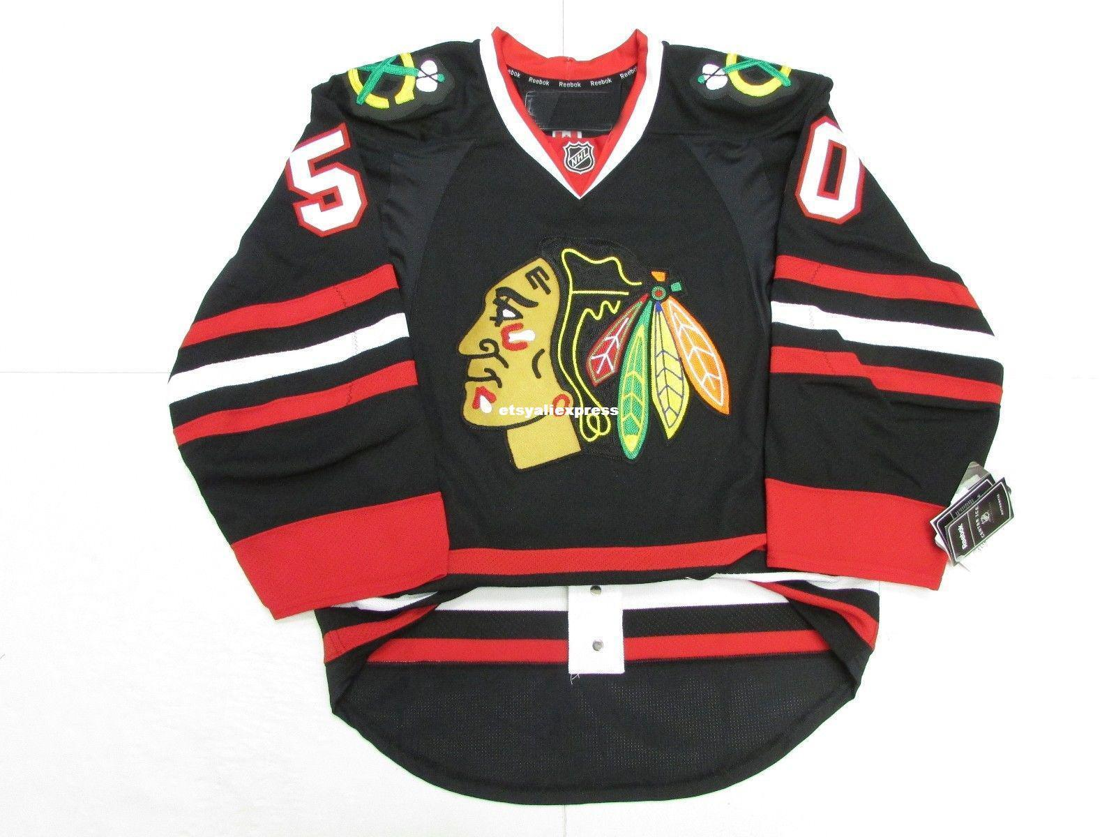 best service ee74c e6878 Cheap custom CRAWFORD CHICAGO BLACKHAWKS THIRD BLACK JERSEY stitch add any  number any name Mens Hockey Jersey XS-6XL