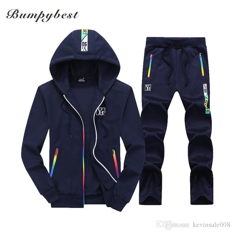 Bumpybeast Sporting Suit Mens Hoodie Zipper Cardigan Pants Suits Designer Tracksuit Two Piece Set Men Clothing Sets Plus Asia Size M -4xl