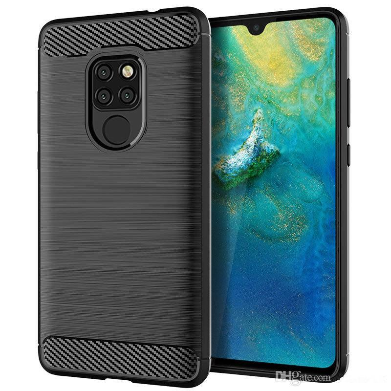 Soft TPU Silicone Case Brush-Finish Phone Cover For Huawei P20 Mate 20 Pro  Lite P Smart Y7 Prime 2018 Y9 2019