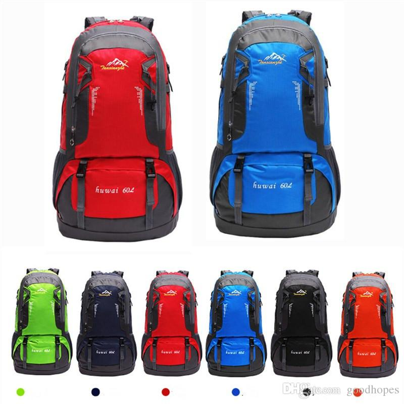 e86b3d65a2 Waterproof Outdoor Backpack Large Capacity 60L Climbing Hiking Cycling Backpack  Outdoor Exercise Shoulder Bag Mountaineer Rucksack School Backpacks Cool ...