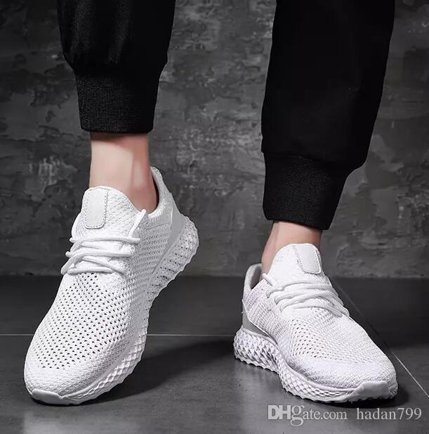 Discount sale Newest Men's shoes Lightweight Breathable Mesh Mens Casual Shoes Adult Walking Shoes Men Sneakers Flats Trainer EUR Size 39-45