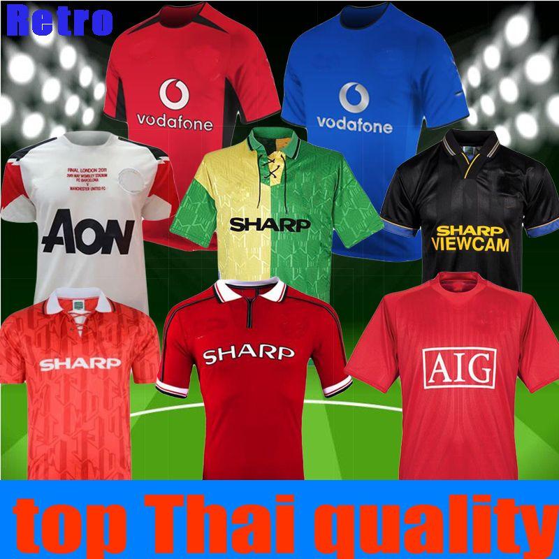 ff18a454c 2019 Retro 2000 2002 2004 2010 2011 12 1992 1994 2007 2008 98 99 Manchester  SOCCER Jersey ROONEY Centenary BECKHAM RONALDO United FOOTBALL SHIRT From  ...