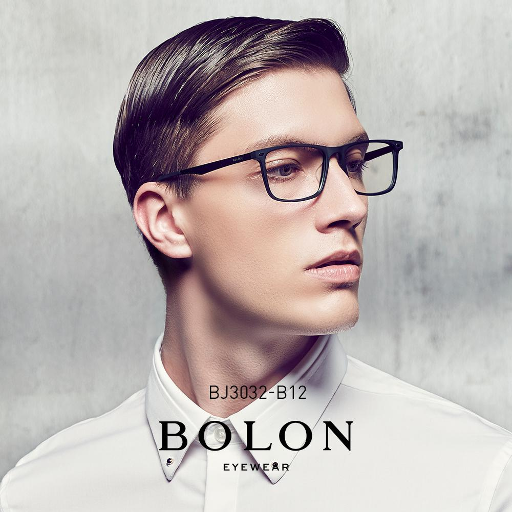 c3af702973 BOLON Square Eyeglasses Frame, Men Dioptric Glasses Prescription Spectacle  Glass Optical Frame + Free CONSLIVE Lens BJ3032