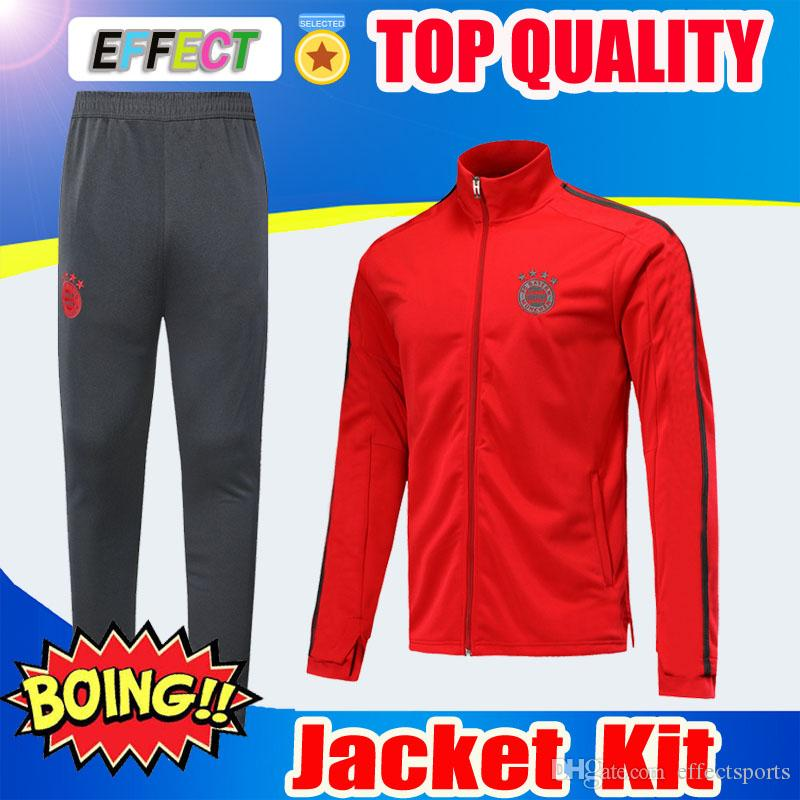 667d7fb93 2019 Bayern Munich Soccer Jacket Kits Full Zipper 19 20 JAMES MULLER Long  Sleeve Football Tracksuit Mens Bayern Training Suits Sportswear UK 2019  From ...