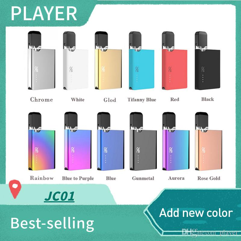 Ovns JC01 Pod Starter kits 400mAh Battery Pods System All-in-One Vape Kits For COCO Thick Oil Ceramic Coil Tank Cartridge 100% Authentic