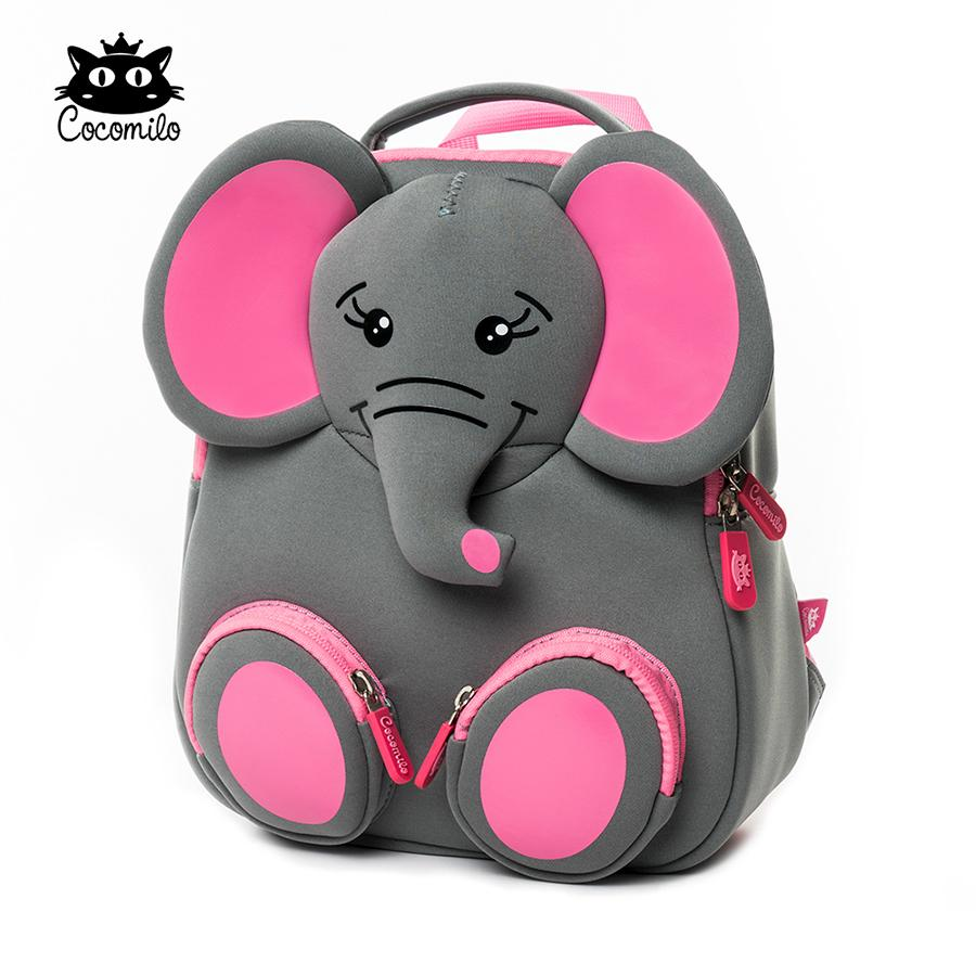 3d Happy Elephant Model School Big Waterproof Zoo Animals Design Mochila Infantil Fashion Anti Lost Gift For Toddler Kids Small Q190530