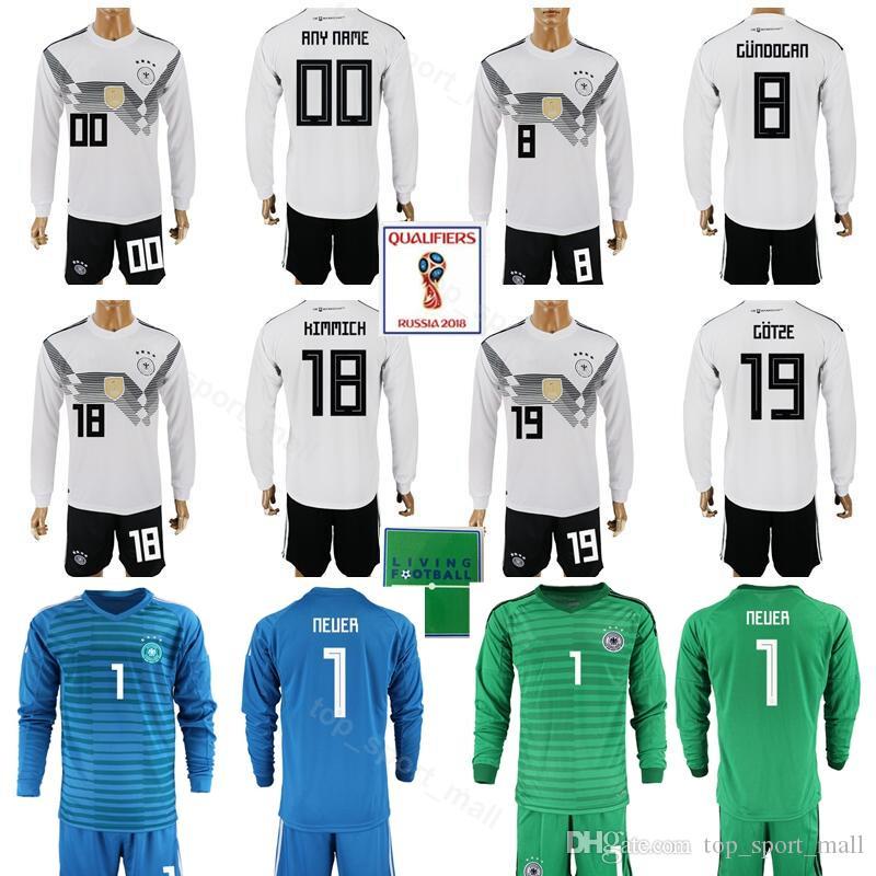 f27ade44d 2019 Germany Long Sleeve 2018 Soccer Jersey World Cup Set 8 Toni Kroos 18  Joshua Kimmich Football Shirt Kits 21 Ilkay Gundogan Timo Werner From ...