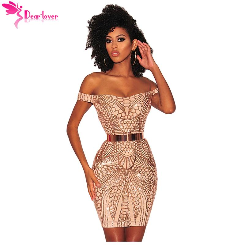 4b5fba1e760c3 New Sexy Party Dresses Summer Gold Sequined Nude Illusion Short Sleeve Off  Shoulder Mini Dress Vestidos De Festa Lc220504