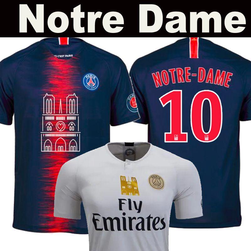 finest selection dd3af a4f1a PSG Notre Dame soccer jersey Notre-Dame Paris 19 20 MBAPPE CAVANI saint  germain DANI ALVES Mbappé DI MARIA thailand 2019 2020 football shirt
