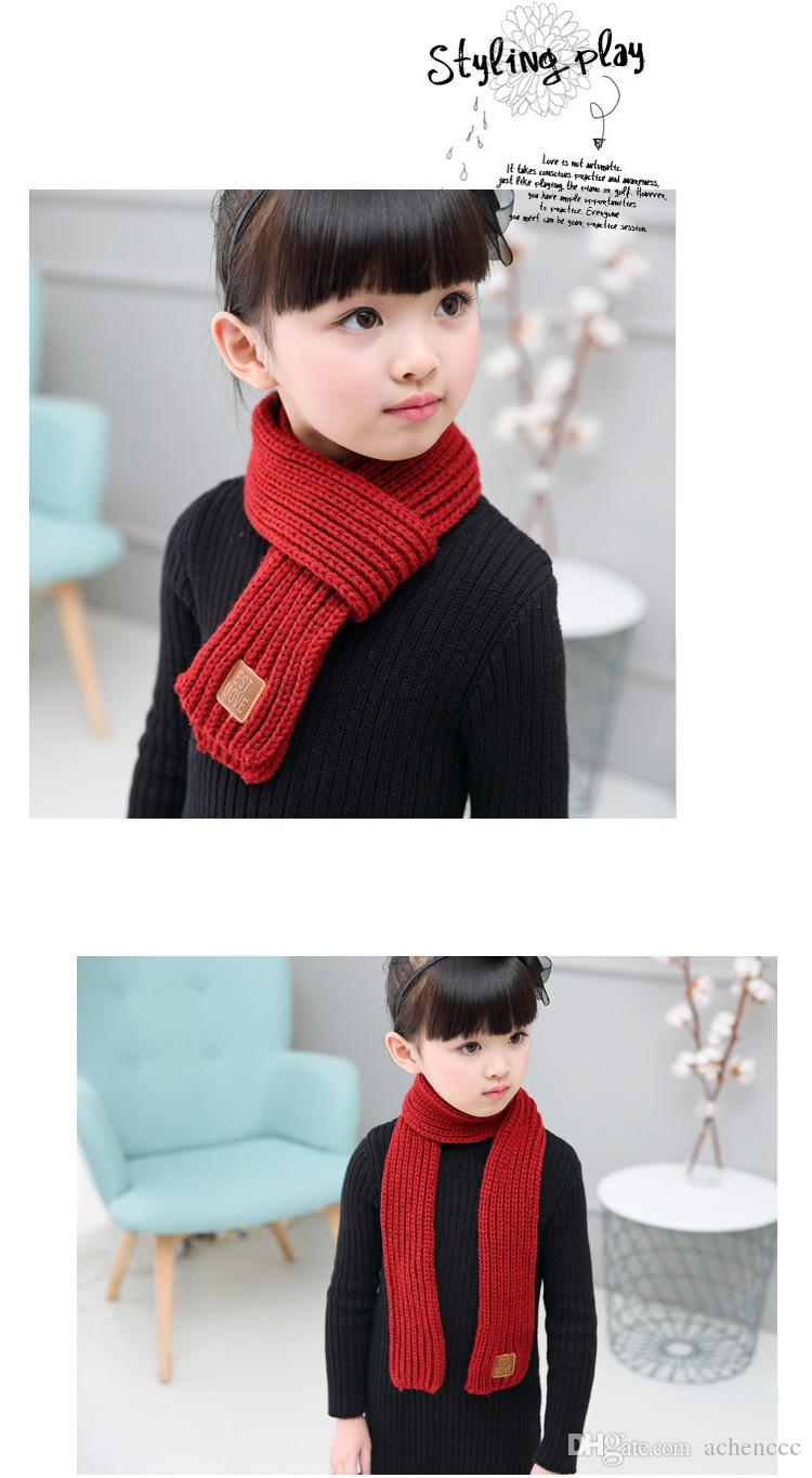 Hearty New Style Unisex Winter For Women Men Kids Baby Knitted Fashion Scarf Thickened Wool Collar Scarves Boys Girls Cotton Neck Scarf Cheap Sales Girl's Scarves Apparel Accessories