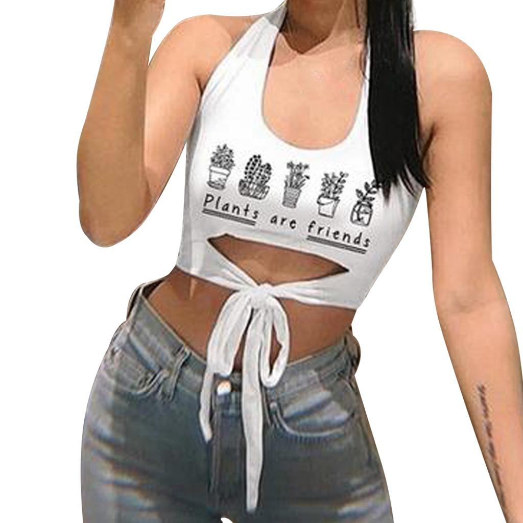 edf13559e7 Compre Tankinis Mujer 2019 Verano Moda Mujer Estilo Caliente Sexy O Cuello  Sin Mangas Fuera Del Hombro Crop Top Algodón Casual Sin Mangas Camisa A   40.14 ...
