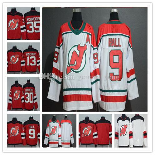 2019 2019 New Jersey Devils Ice Hockey 9 Taylor Hall 13 Nico Hischier 30  Martin Brodeur 35 Cory Schneider Andy Greene Red White Alternate Jersey  From ... 4343725ae