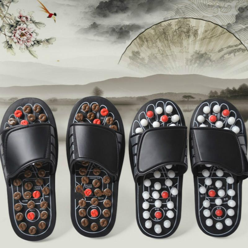 Dropshipping Acupoint Massage Slippers Sandal Men Feet Chinese Acupressure Therapy Medical Rotating UnisexFoot Massager Shoes