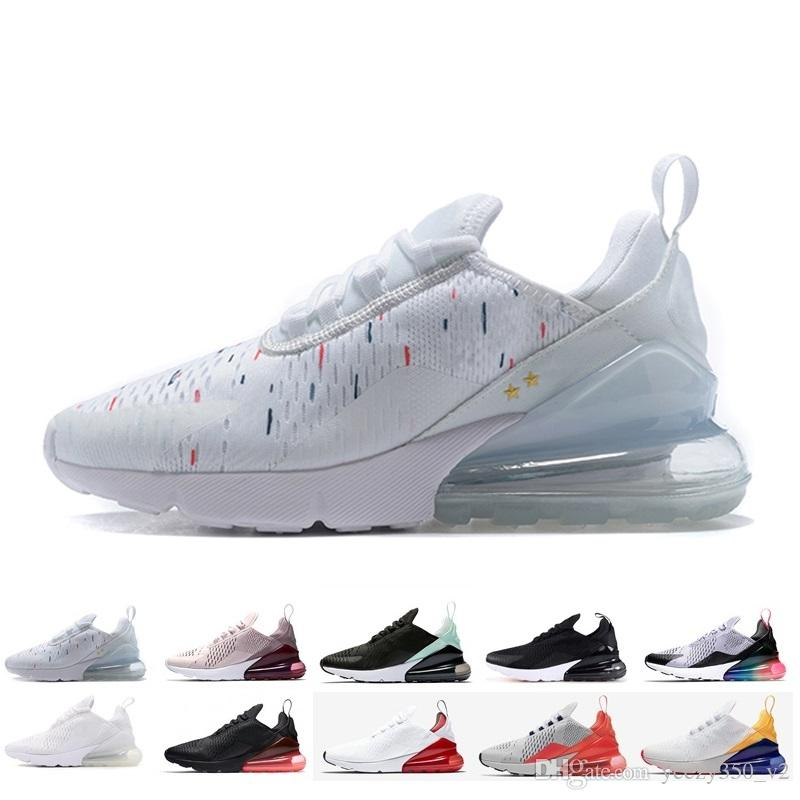 3f8022db408 Compre Nuevas Llegadas 2018 Diseñador Nike Air Max 270 Hombres Zapatos  Negro Triple Blanco Cojín De Aire Para Hombre Zapatillas De Deporte  Atletismo ...