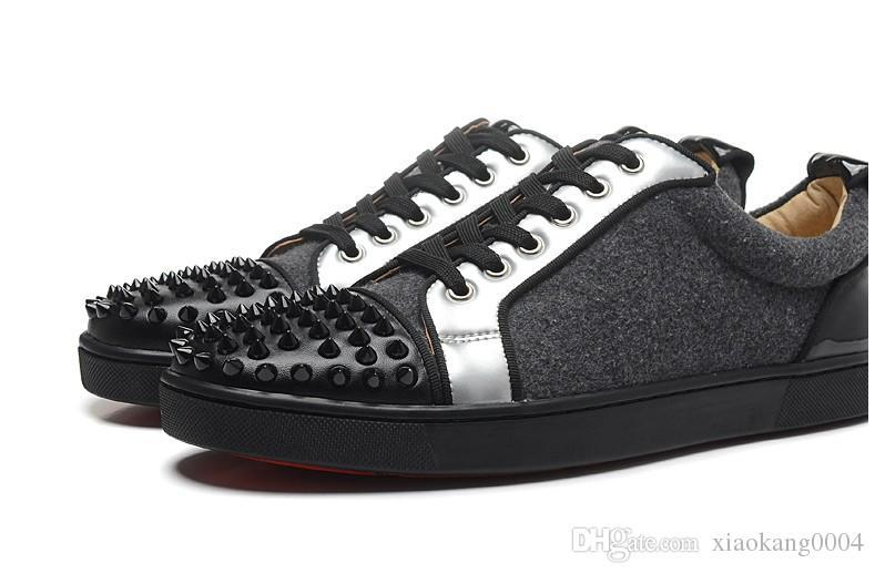 Designer Sneakers Low Cut Spikes pattini degli appartamenti inferiori rossi per gli uomini e le donne rivestono di pelle Designer Shoes Sneakers partito Venduto da Sneakerdeal m89608