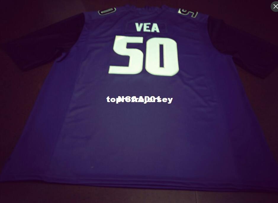 wholesale dealer fa977 0423a Cheap Men #50 Vita Vea black white or purple Washington Huskies Alumni  College Jersey or custom any name or number jersey