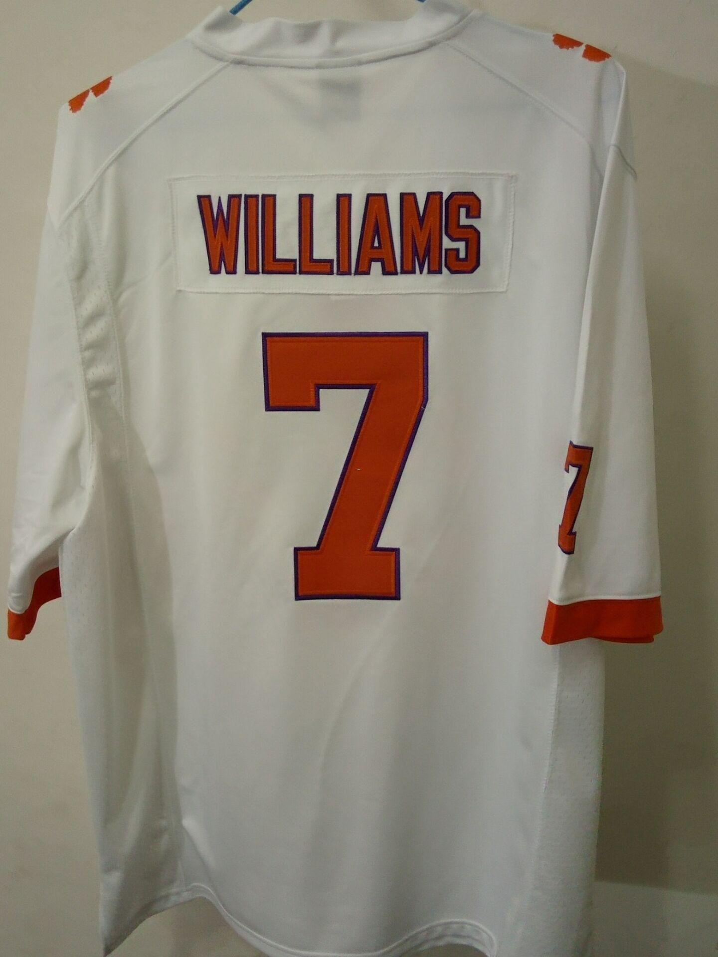 promo code 538c0 1d823 Men Clemson Tigers #7 Mike Williams Orange White College Jersey or custom  any name or number jersey