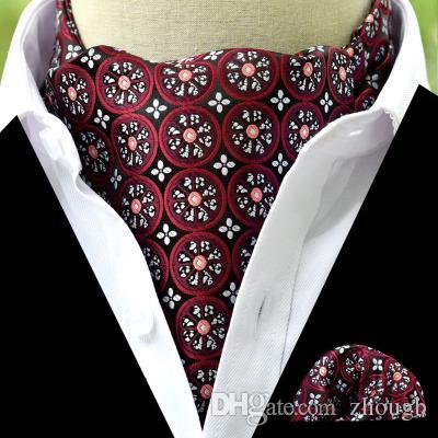 11 Style 2019 Fashion Polyester Silk Printed Men Scarf Polka Dot Scarves  Suit England Jacquard Weave Ties Paisley Wedding